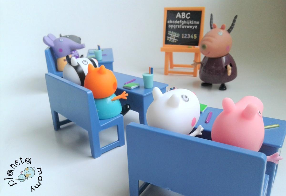 vamos al cole con Peppa Pig -Bandai