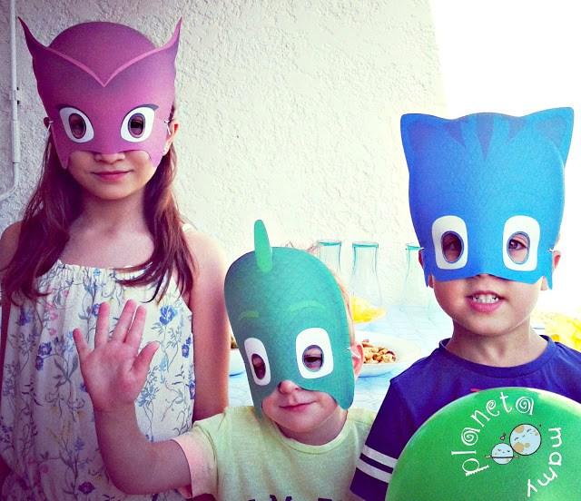pj masks, carnaval, niños, Bandai