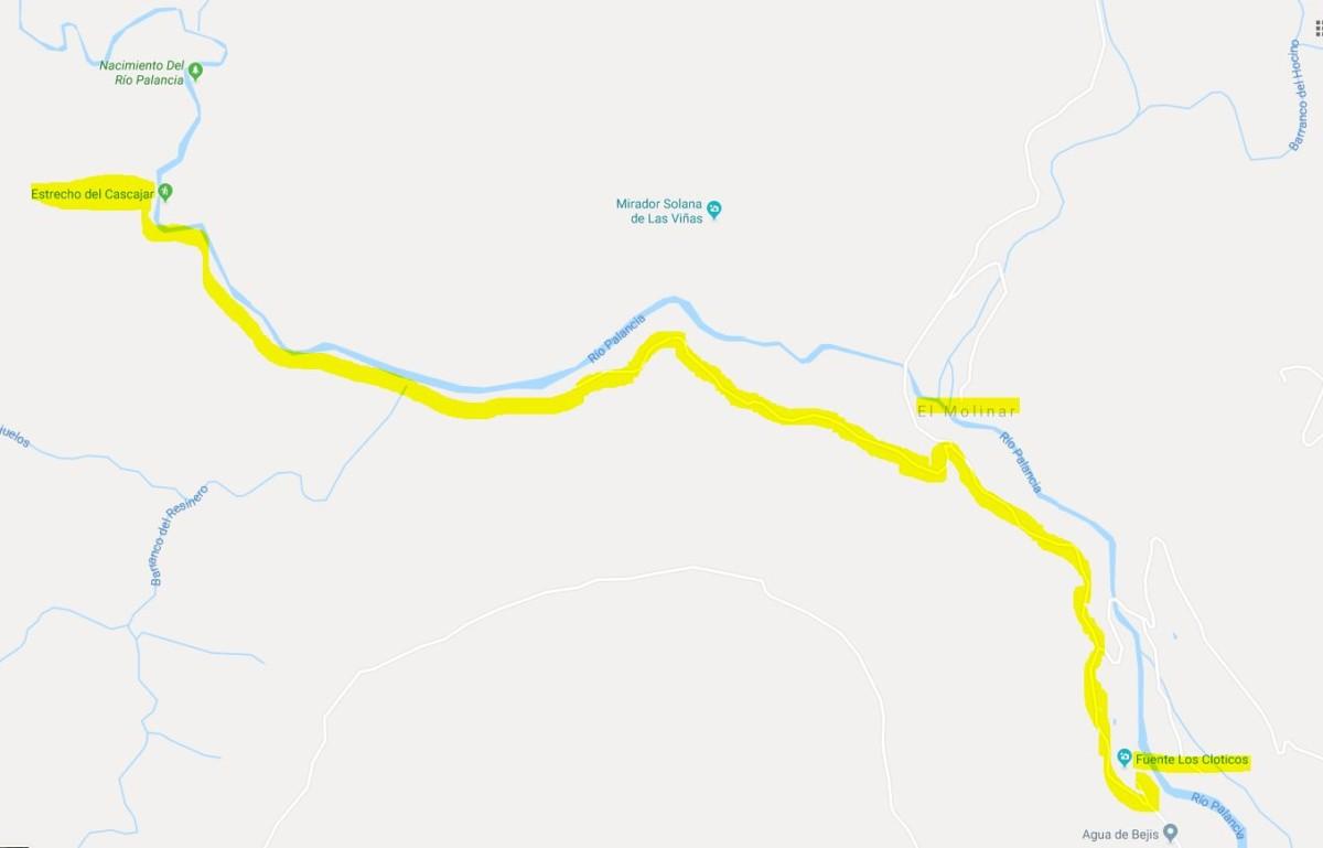 ruta nacimiento río palancia